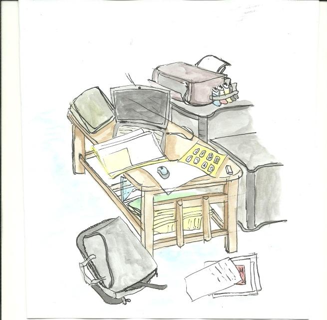 Ruang Kerja yang Berantakan